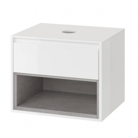 Excellent Tuto Szafka podumywalkowa 60x45,7x48 cm z blatem, biały/beton MLEX.0102.600.WHCO
