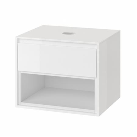 Excellent Tuto Szafka podumywalkowa 60x45,7x48 cm z blatem, biały/biały MLEX.0102.600.WHWH