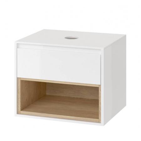 Excellent Tuto Szafka podumywalkowa 60x45,7x48 cm z blatem, biały/dąb MLEX.0102.600.WHBL