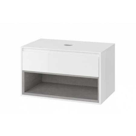 Excellent Tuto Szafka podumywalkowa 80x45,7x48 cm z blatem, biały/beton MLEX.0102.800.WHCO