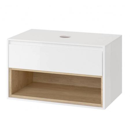 Excellent Tuto Szafka podumywalkowa 80x45,7x48 cm z blatem, biały/dąb MLEX.0102.800.WHBL