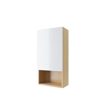 Excellent Tuto Szafka wisząca 40x20x80 cm prawa dąb/biały MLEX.0107.400.BLWH