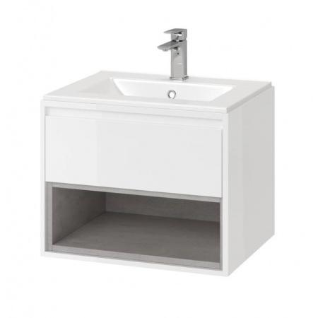 Excellent Tuto Zestaw Szafka podumywalkowa 60x45,7x48 cm z umywalką As, biały/beton MLCE.0101.3617.600.WHCO