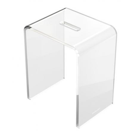 Excellent Zen Stołek łazienkowy 35x26,6x45 cm akrylowy, przezroczysty DOEX.1103.350.TR