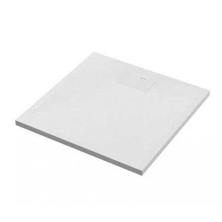 Excellent Zero Brodzik kwadratowy 80x80 cm akrylowy niski z klapką, biały BREX.1202.080.080.WHN
