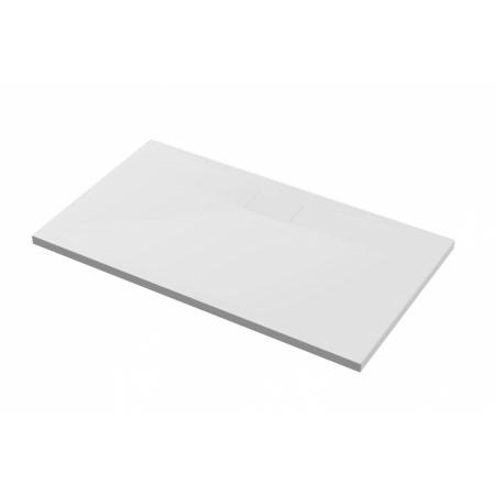 Excellent Zero Brodzik prostokątny 100x80 cm akrylowy niski z klapką, biały BREX.1203.100.080.WHN