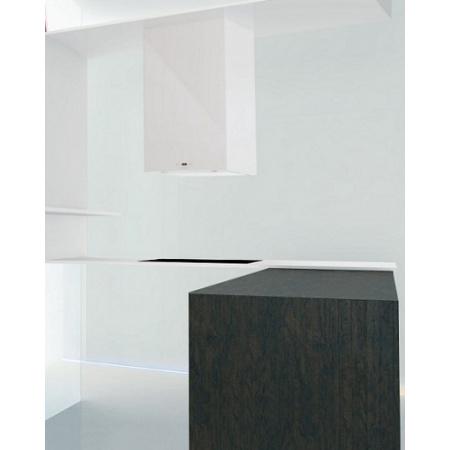 Faber Cubia Isola Gloss EG8 WH 45 Active Okap wyspowy 45 cm, biały 110.0157.071