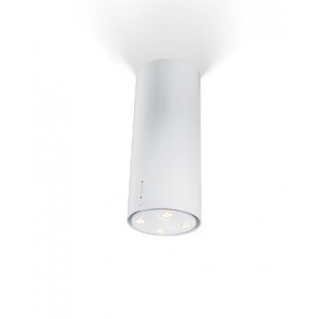 Unikalne Faber Cylindra Isola Gloss W 37 Okap wyspowy 37 cm, biały 110.0157 RC63