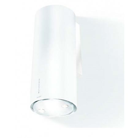 Faber Flow Gloss WH 37 Okap przyścienny 37 cm ze stali nierdzewnej, biały błyszczący 110.0182.257