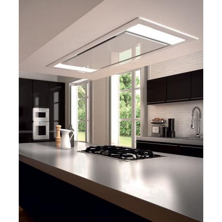 Faber Heaven Glass 2.0 WH 90 Okap do zabudowy sufitowej 90 cm, biały 110.0315.503