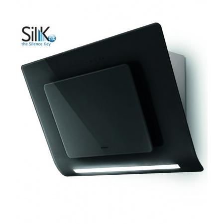 Faber Infinity ACT BK 80 Okap przyścienny 80 cm z technologią tłumienia hałasu Sil-K Act, czarny 110.0324.929