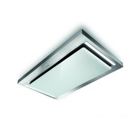 Faber Skypad X/WH 120 Okap wyspowy 120 cm płaski, inox/białe szkło 110.0324.951