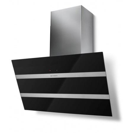 Faber Steelmax EG8 BK/X 80 Okap przyścienny 80 cm, czarny 110.0388.697