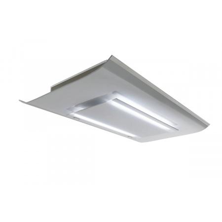 Falmec Design+ Cielo Okap sufitowy 120x71,9 cm, szkło białe CCMI20.E0P2#ZZZB461F