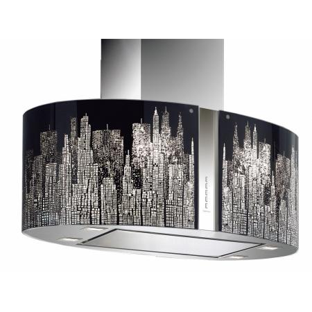 Falmec Mirabilia Manhattan Isola Okap wyspowy 85x46,5 cm, stalowy/szklany CJRI85.E50P2#ZZZI491F+KACL.229