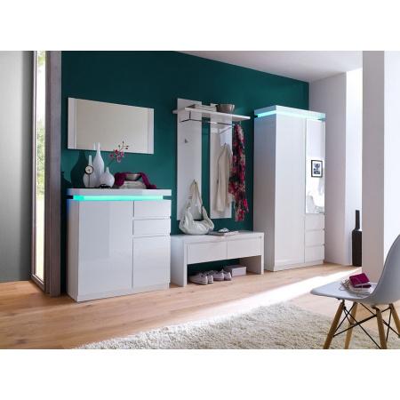 Fato Luxmeble Atlantic Garderoba zestaw, biała 8563