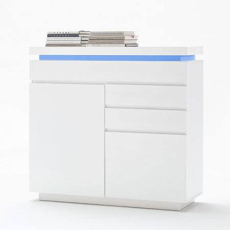 Fato Luxmeble Atlantic Komoda 2+3, biała 8560