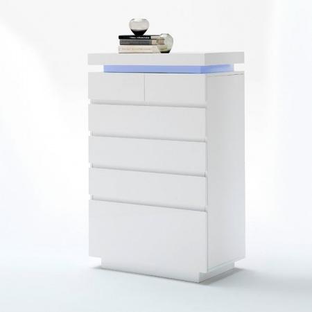 Fato Luxmeble Atlantic Komoda 6S, biała 8561