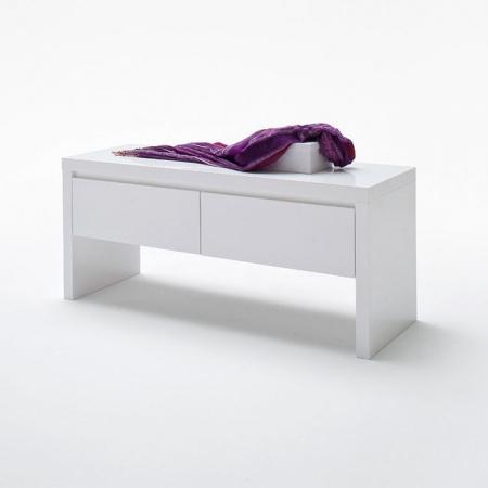 Fato Luxmeble Atlantic Ławka z 2 szufladami, biała 8565
