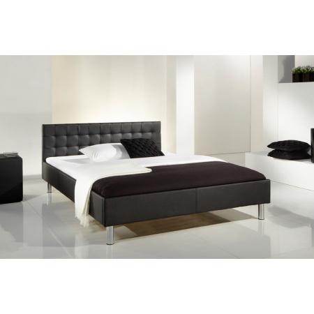 Fato Luxmeble Fanatic Łóżko tapicerowane 140 cm, czarne 3262