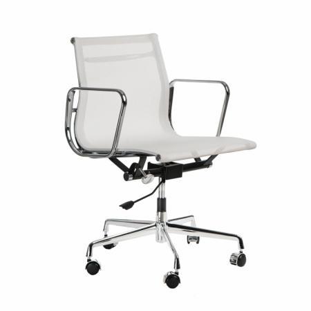 Fernity CH1171T Fotel biurowy z siatką biały/chrom EA117TBIASIATCHR