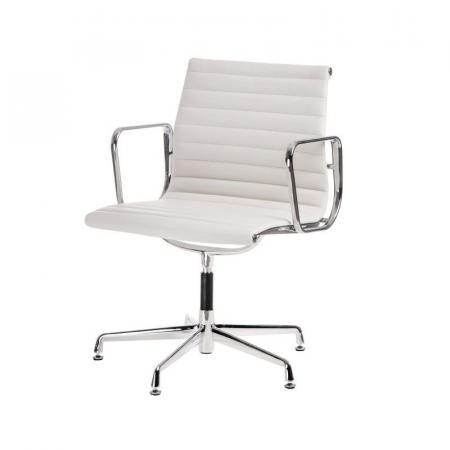 Fernity CH1081T Fotel konferencyjny skórzany biały/chrom EA108TBIALSKOCHROM