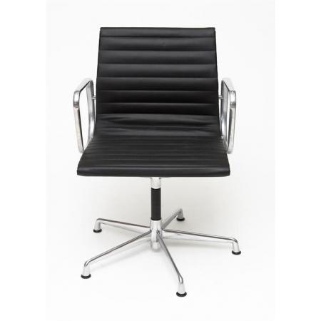 Fernity CH1081T Fotel konferencyjny skórzany czarny/chrom EA108TCZASKOCHROM