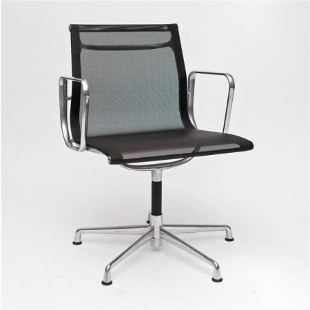 Fernity CH1081T Fotel konferencyjny z siatką czarny/chrom EA108TCZARSIATCHRO