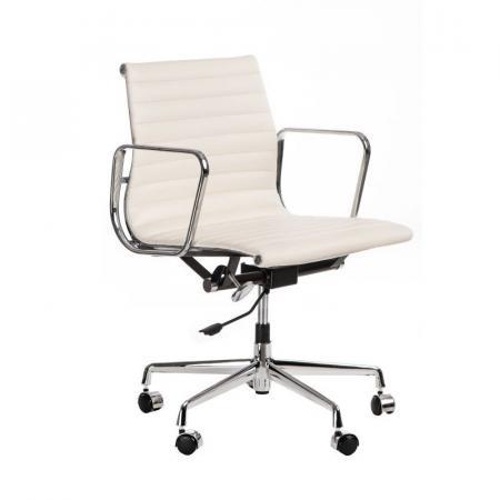 Fernity CH1171T Fotel biurowy skórzany biały/chrom EA117TPBIALASKOCH