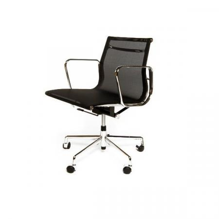 Fernity CH1171T Fotel biurowy z siatką czarny/chrom EA117TCZARSIATCHRO