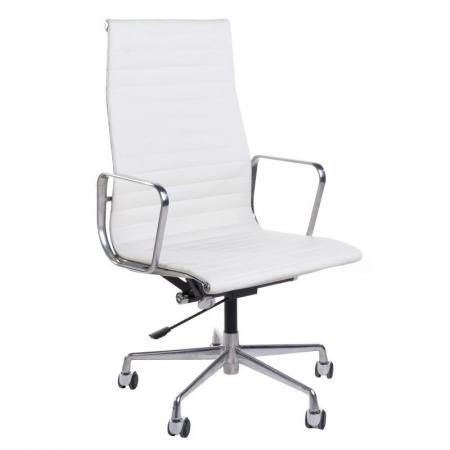 Fernity CH1191T Fotel biurowy skórzany biały/chrom EA119TBIALSKORACHR