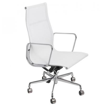 Fernity CH1191T Fotel biurowy z siatką biały/chrom EA119TBIALASIATKAC