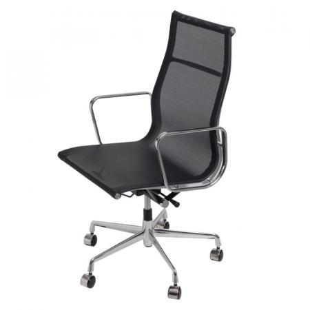 Fernity CH1191T Fotel biurowy z siatką czarny/chrom EA119TCZARNASIATKA