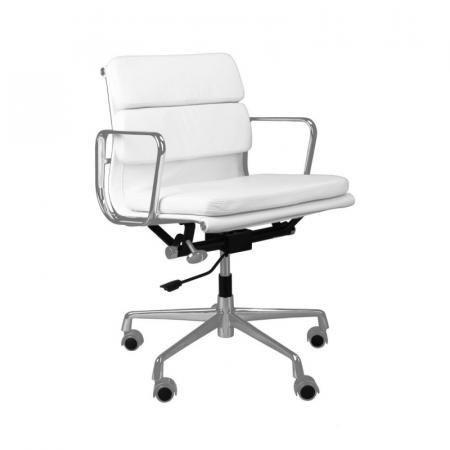 Fernity CH2171T Fotel biurowy skórzany biały/chrom EA217TSOFTBIASKCR