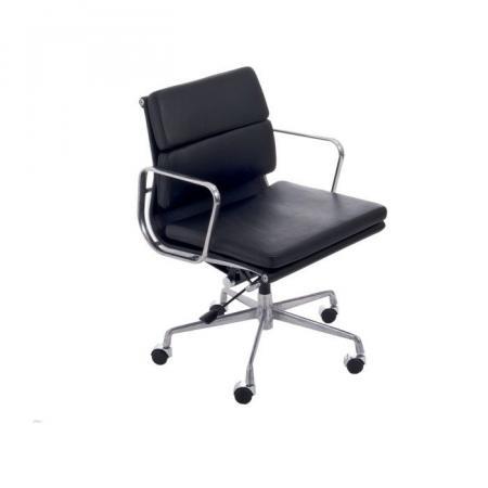 Fernity CH2171T Fotel biurowy skórzany czarny/chrom EA217TSOFTCZASKCHR