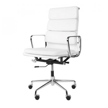 Fernity CH2191T Fotel biurowy skórzany biały/chrom EA219TSOFTBIASKCHR