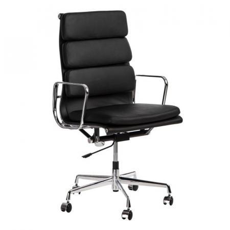 Fernity CH2191T Fotel biurowy skórzany czarny/chrom EA219TSOFTCZASKCHR