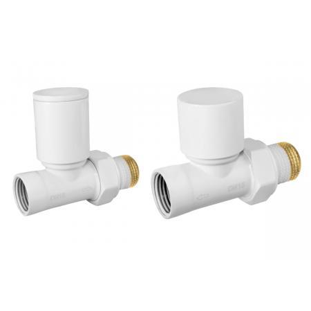 Ferro Zestaw grzejnikowy prosty biały ZGB30WH