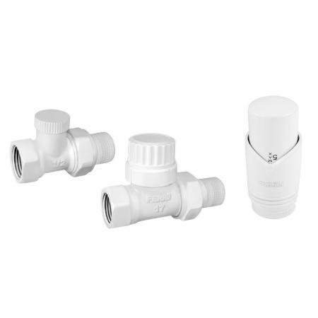 Ferro Zestaw termostatyczny prosty biały ZTM30WH