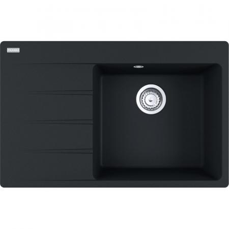 Franke Centro CNG 611-78 TL Fragranit+ Zlewozmywak granitowy jednokomorowy 78x50 cm lewy czarny mat 114.0633.138