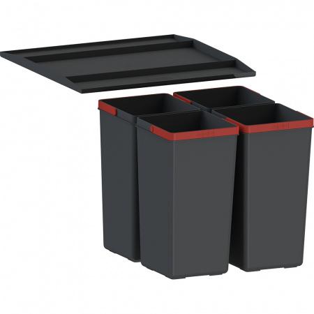 Franke EasySort 450-0-4 Sortownik do odpadów, czarny 121.0494.191