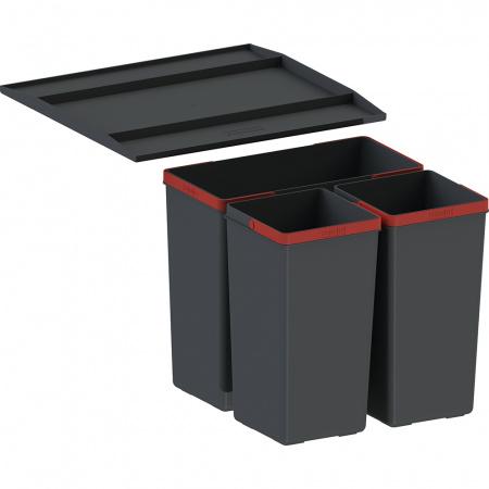 Franke EasySort 450-1-2 Sortownik do odpadów, czarny 121.0494.150