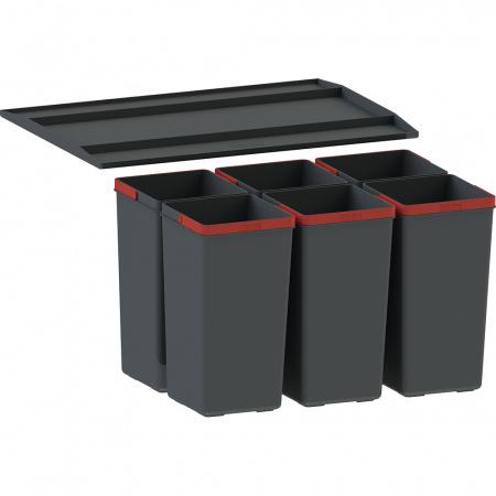 Franke EasySort 600-0-6 Sortownik do odpadów, czarny 121.0494.195