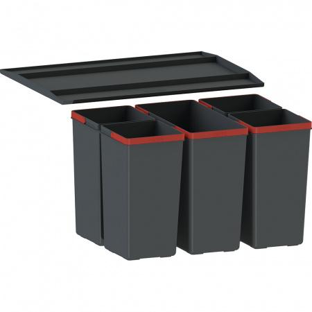 Franke EasySort 600-1-4 Sortownik do odpadów, czarny 121.0494.194