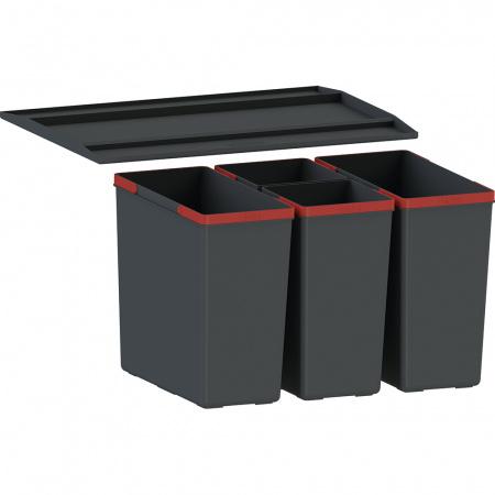 Franke EasySort 600-2-2 Sortownik do odpadów, czarny 121.0494.193