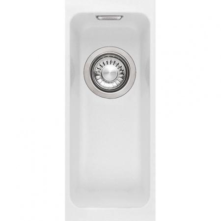 Franke Kubus KBG 110-16 Zlewozmywak granitowy jednokomorowy 18,7x46 cm do podbudowy z powłoką Sanitized, biały polarny 125.0298.840