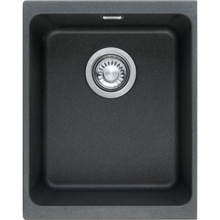 Franke Kubus KBG 110-34 Zlewozmywak granitowy jednokomorowy 38x44 cm onyx czarny 125.0158.601