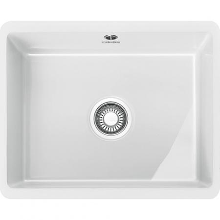 Franke Kubus KBK 110-50 Zlewozmywak ceramiczny jednokomorowy 54,5x44,5 cm do podbudowy, biały polarny 126.0380.001