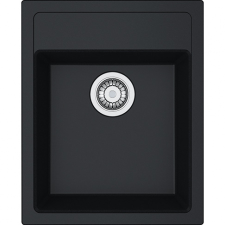 Franke Sirius SID 610-40 Zlewozmywak granitowy jednokomorowy 43x53 cm wbudowywany, onyx czarny 114.0496.104