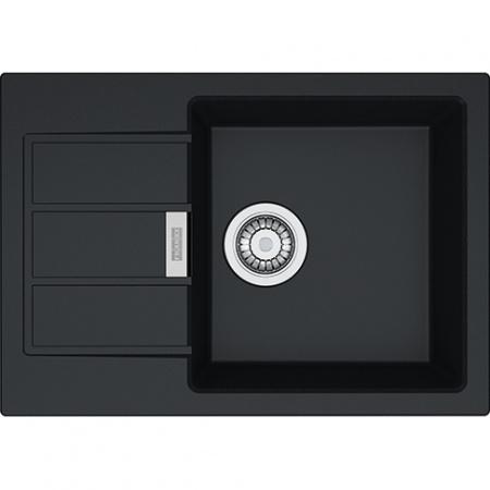 Franke Sirius SUD 611-62 Zlewozmywak granitowy 62x43,5 cm wbudowywany, onyx czarny 114.0496.096